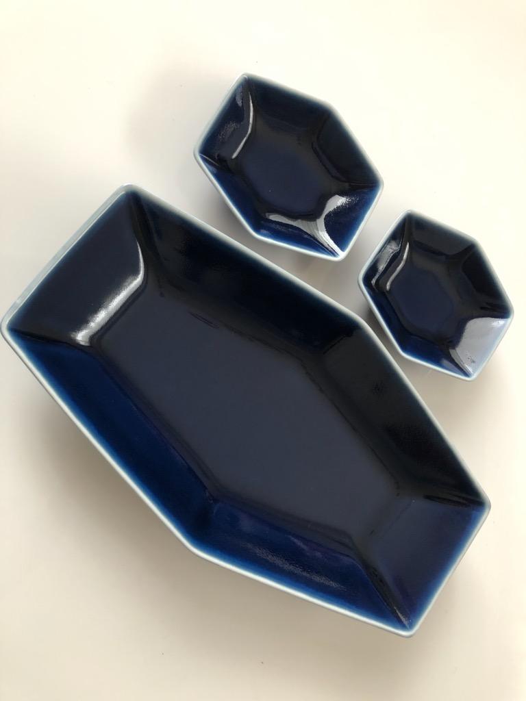 白山陶器・六角皿